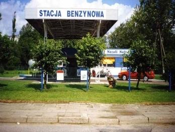 Stacja benzynowa w Pieniężnie